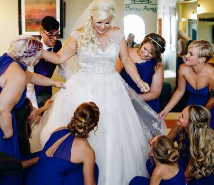 Berry Acres Wedding Venue Kansas City dress