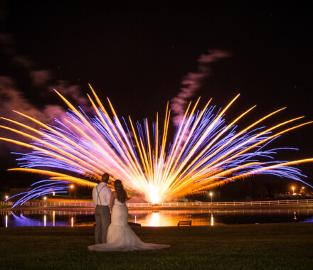 Berry Acres Wedding Venue Kansas City firework