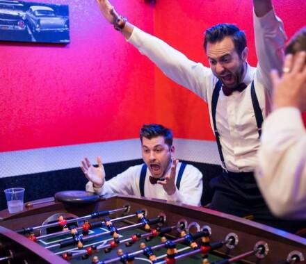 Berry Acres Wedding Venue Kansas City foosball
