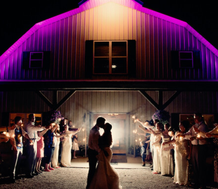 Berry Acres Wedding Venue Kansas City purple