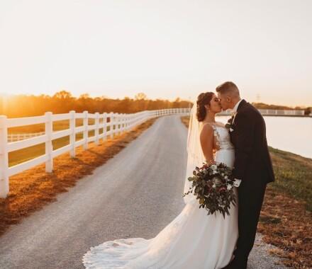 Berry Acres Wedding Venue Kansas City sunset