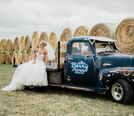Berry Acres Wedding Venue Kansas City truck