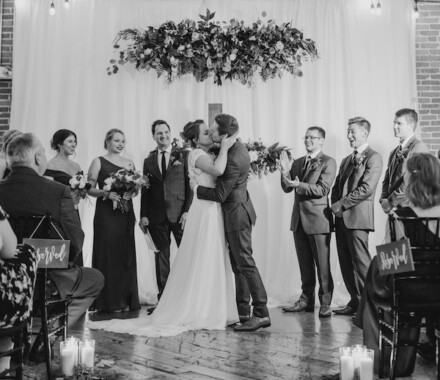 Blush & Blossoms Wedding Florist Kansas City black and white