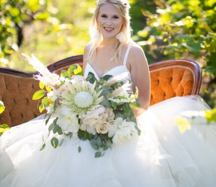Blush & Blossoms Wedding Florist Kansas City bride
