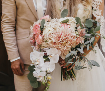 Blush & Blossoms Wedding Florist Kansas City couple