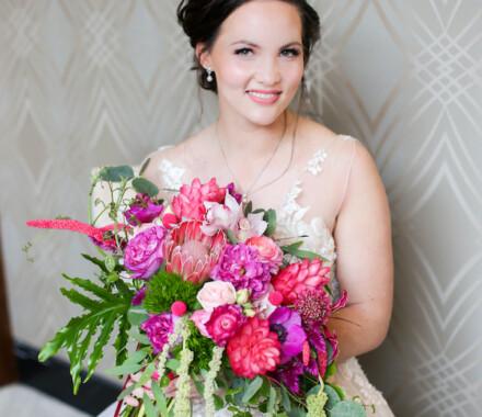Botanical Floral Design Wedding Florist Kansas City bench