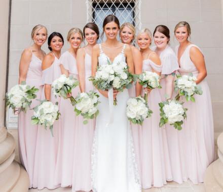 Botanical Floral Design Wedding Florist Kansas City bridesmaids