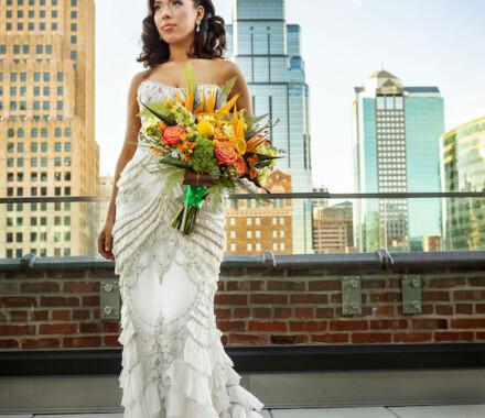 Botanical Floral Design Wedding Florist Kansas City skyline