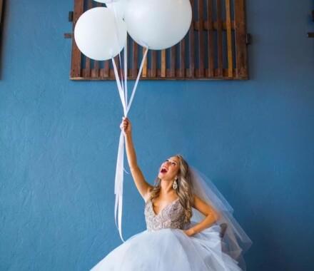 Bronzed and Blushed Bridal Beauty Wedding Kansas City balloons