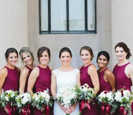 Bronzed and Blushed Bridal Beauty Wedding Kansas City bridesmaids