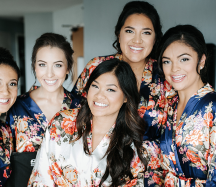 Bronzed and Blushed Bridal Beauty Wedding Kansas City girls
