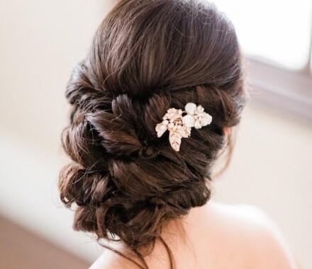 Bronzed and Blushed Bridal Beauty Wedding Kansas City hair