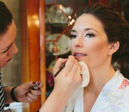 Bronzed and Blushed Bridal Beauty Wedding Kansas City lips