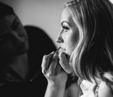 Bronzed and Blushed Bridal Beauty Wedding Kansas City lips again