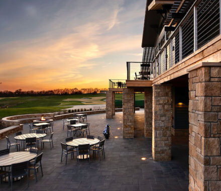 Canyon Farms Golf Club Kansas City Wedding Venue terrace