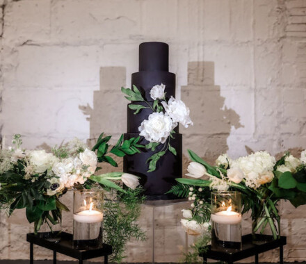 Clever Cakes Wedding Dessert Kansas City black white