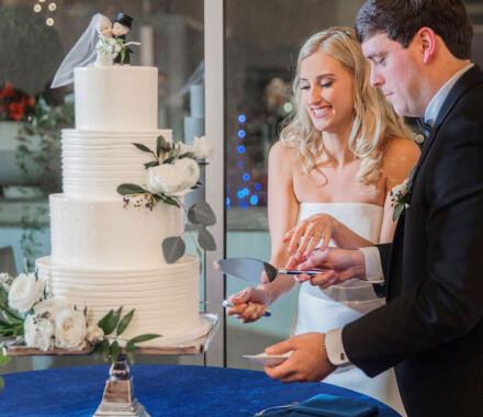 Clever Cakes Wedding Dessert Kansas City cut