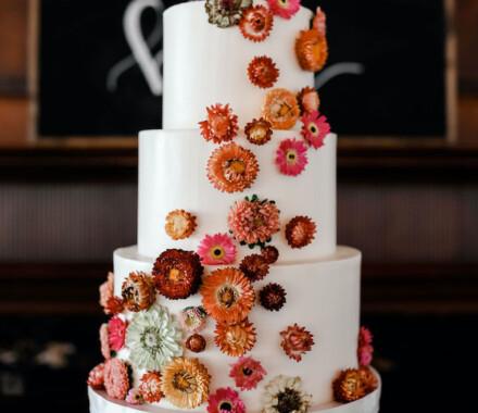 Clever Cakes Wedding Dessert Kansas City flowers all over