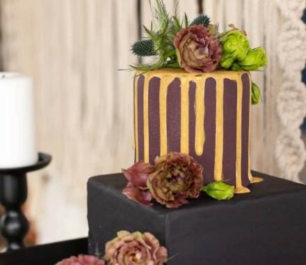 Crumbs and Confections Kansas City Wedding Cake Dessert burgundy