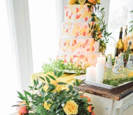 Crumbs and Confections Kansas City Wedding Cake Dessert citrus