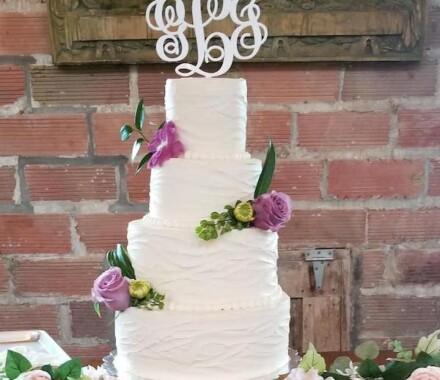 Crumbs and Confections Kansas City Wedding Cake Dessert flower