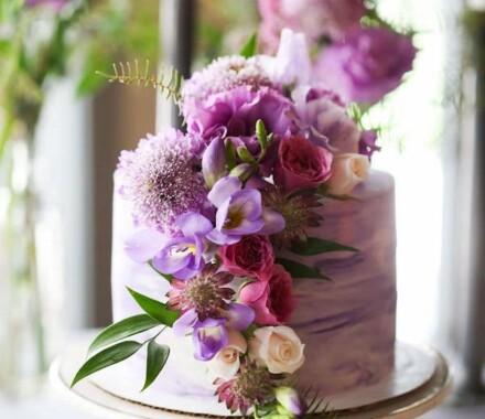 Crumbs and Confections Kansas City Wedding Cake Dessert purple