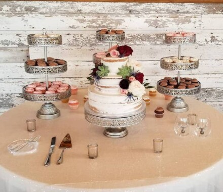 Crumbs and Confections Kansas City Wedding Cake Dessert table