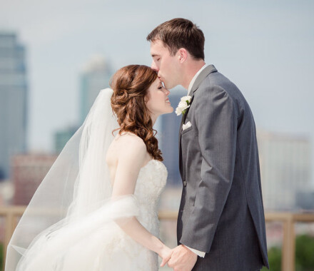 Events by Elle Wedding Planner Kansas City forehead kiss