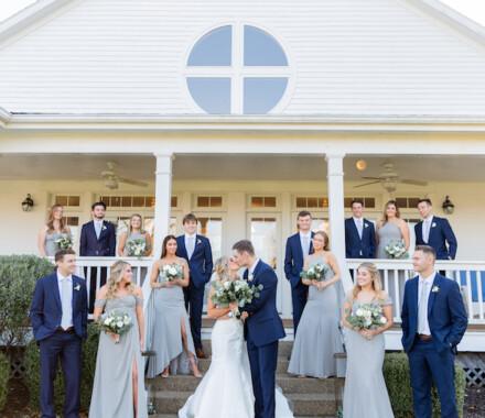 Hawthorne House Wedding Venue Kansas City bridal party