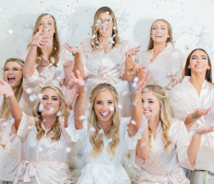 Hawthorne House Wedding Venue Kansas City confetti
