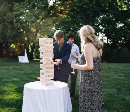 Hawthorne House Wedding Venue Kansas City jenga