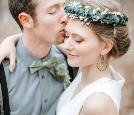 Hello Lovely KC Wedding Hair Makeup Kansas City kiss