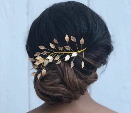 Hello Lovely KC Wedding Hair Makeup Kansas City leaves