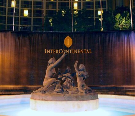 Intercontinental Hotel Kansas City Wedding Venue Plaza Accommodations fountain