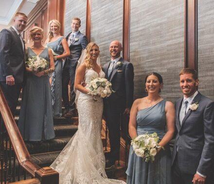 Intercontinental Hotel Kansas City Wedding Venue Plaza bridal party
