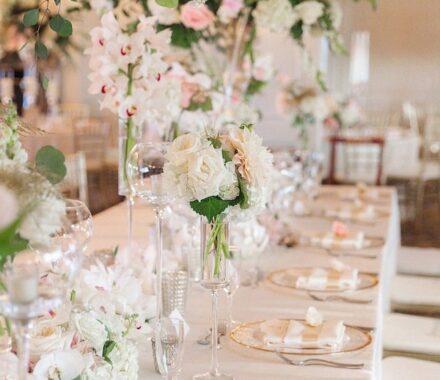 Intercontinental Hotel Kansas City Wedding Venue Plaza table