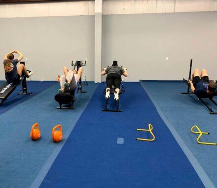 KC Athletic Cut Kansas City Wedding Fitness Trainer stations