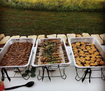 Marigolds Food Truck Kansas City Wedding Catering buffet