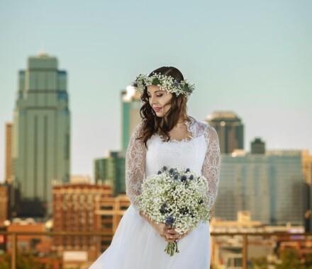 Netanya's Pix Photography Kansas City Wedding skyline