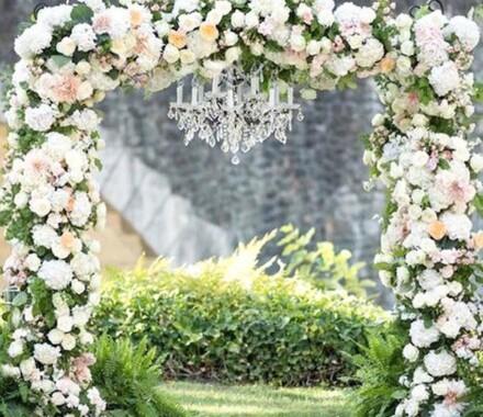 Supply Event Rentals and Design Kansas City Wedding chandelier