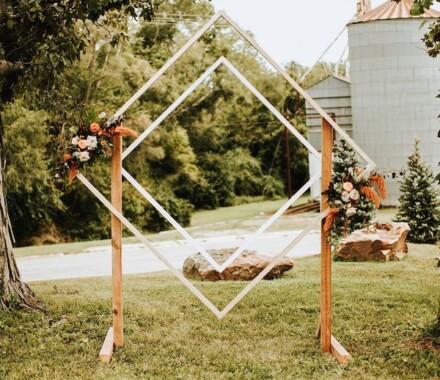 Supply Event Rentals and Design Kansas City Wedding diamond