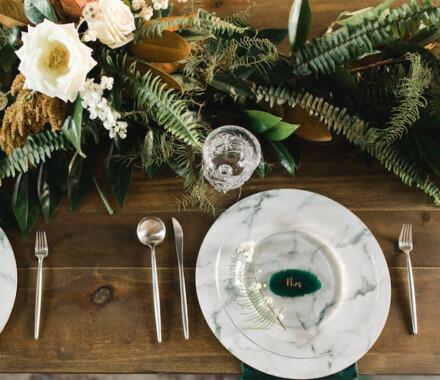 Supply Event Rentals and Design Kansas City Wedding marble