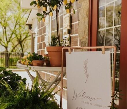 Supply Event Rentals and Design Kansas City Wedding sign