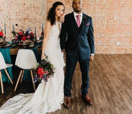 The Otten on Main Wedding Venue Kansas City brick