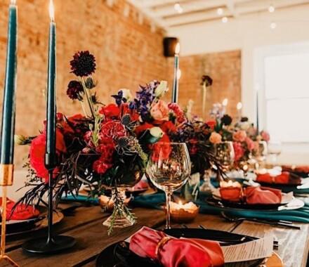 The Otten on Main Wedding Venue Kansas City red