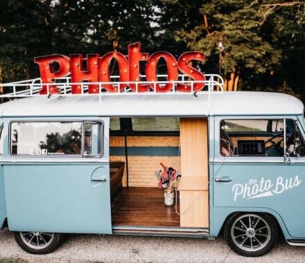 The Photo Bus Photo Booth Wedding Kansas City blue