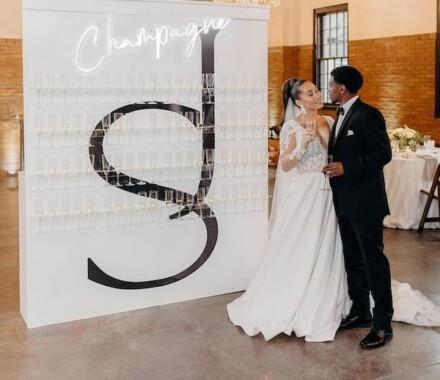 The Photo Bus Photo Booth Wedding Kansas City champagne