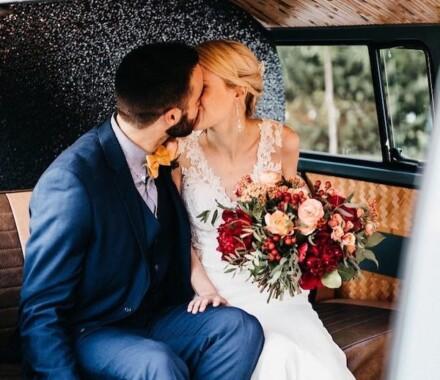 The Photo Bus Photo Booth Wedding Kansas City kissing