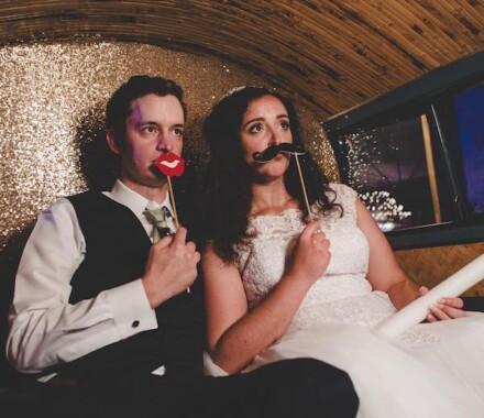 The Photo Bus Photo Booth Wedding Kansas City mustache