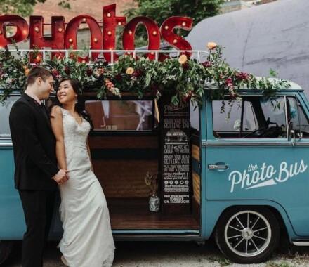 The Photo Bus Photo Booth Wedding Kansas City outside